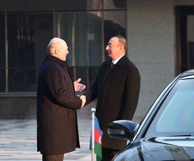 Azərbaycan Prezidentinin Belarusda rəsmi qarşılanma mərasimi olub - FOTOLAR