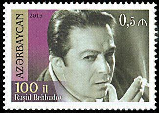 Postage stamp on 100th anniversary of Rashid Behbudov issued