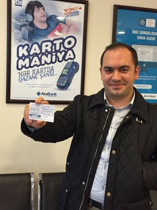 Customer of Yeni Hayat branch won 500 manats from AtaBank