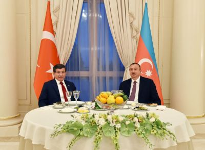 Dinner reception was hosted on behalf of Azerbaijani President in honor of Turkish Premier