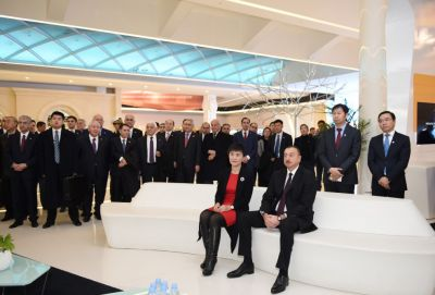 President Ilham Aliyev visited Huawei Exhibition Centre  PHOTOS