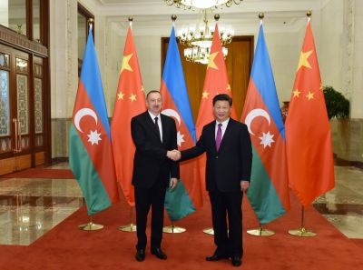 Official welcoming ceremony for Azerbaijani President held in Beijing