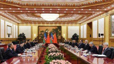 President Ilham Aliyev met with Chinese President