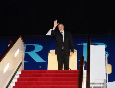 President Ilham Aliyev ends his official visit to China