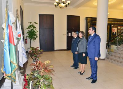 Baku Higher Oil School commemorates the Azerbaijani National Leader