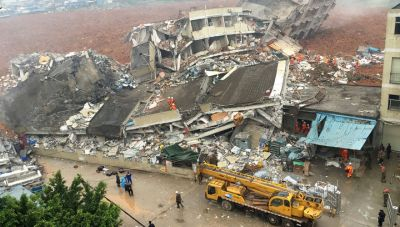 Гора отходов завалила промышленный парк без вести пропали около сотни человек