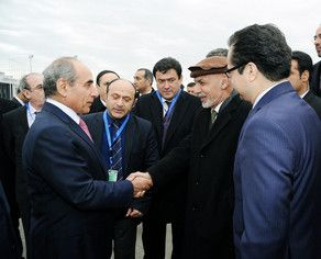 Afgan President arrives in Azerbaijan
