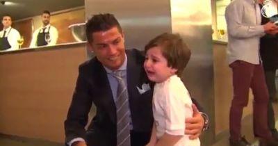 Ronaldo meets Lebanese orphan Haidar,