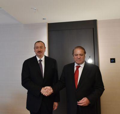 Состоялась встреча Ильхама Алиева с премьер-министром Пакистана