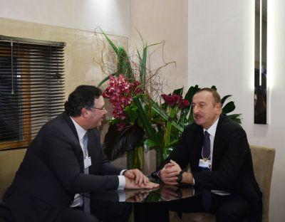 Ильхам Алиев встретился с генеральным исполнительным директором компании TOTAL