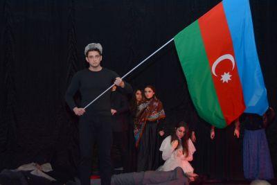 Поддержка студентами UNEC кампании «Справедливость Ходжалы!» ФОТОГРАФИИ