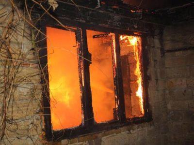 В жилом доме произошел пожар