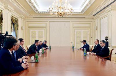 Прошла встреча Ильхама Алиева с председателем Палаты депутатов парламента Чехии