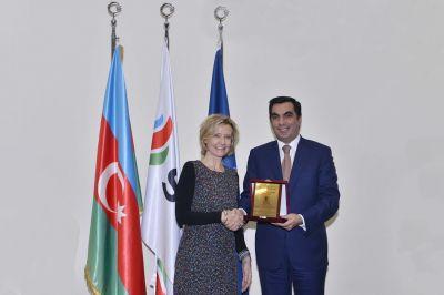 Посол Германии в Азербайджане представила презентацию в Бакинской Высшей Школе Нефти