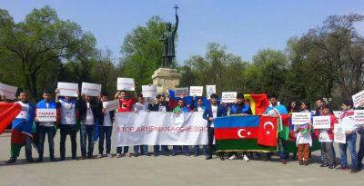 В Молдове студенты провели акцию поддержки Азербайджанской армии