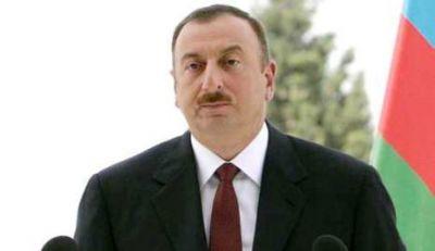 Ильхам Алиев в Агсу