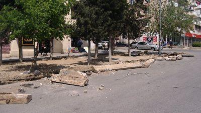 Nizami rayonu Rüstəmov küçəsində təmir başlanıb - FOTOLAR- VİDEO
