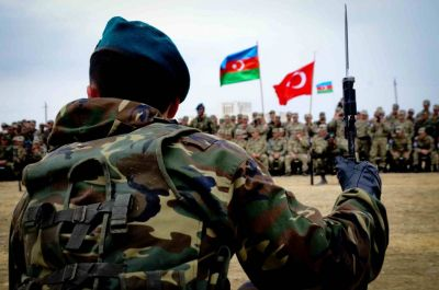 Азербайджанские военные на учениях в Турции