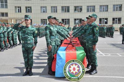 Азербайджанские пограничники дали клятву служить Родине
