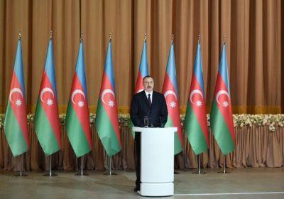 Ильхам Алиев на официальном приеме по случаю Дня Республики