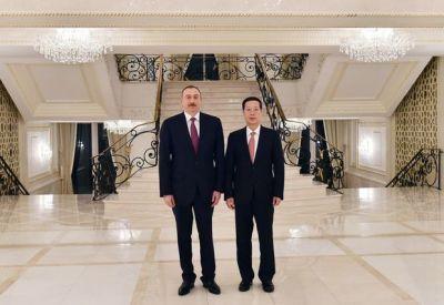 Ильхам Алиев обсудил Карабах с Чжаном Гаоли