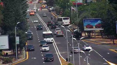 На проспекте Азадлыг вносится изменение в движение транспорта