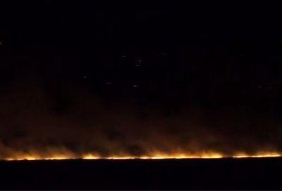 10 hektar taxıl sahəsi yandı