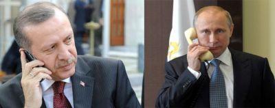 Состоялся телефонный разговор Путина и Эрдогана
