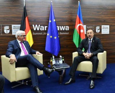Ильхам Алиев встретился с Анджеем Дудой и Франком-Вальтером Штайнмайером