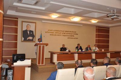 """""""Dini ekstremizmə qarşı mübarizə"""" mövzusunda seminar-müşavirə keçirilib FOTOLAR"""