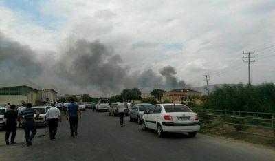 Мощный взрыв на оружейном заводе в Ширване