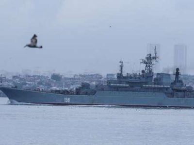 Rus döyüş gəmisi İstanbul boğazında...