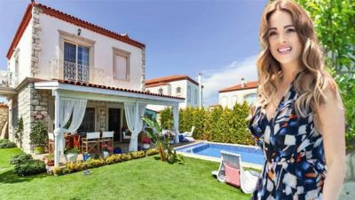 Aktrisanın göz oxşayan villası FOTOLAR