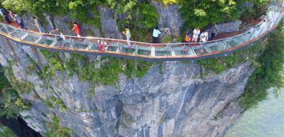 Çində 1500 metr hündürlüyündə körpü açılıb