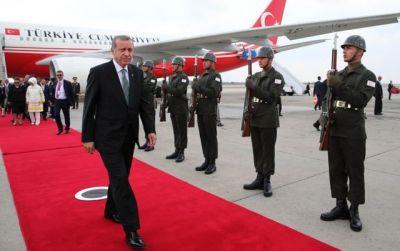 Эрдоган прилетел на встречу с Путиным в Санкт-Петербург
