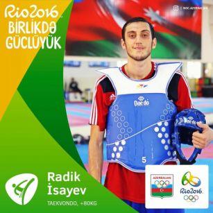 """Azərbaycan taekvondoçusu """"Rio-2016""""da 1/4 finala yüksəlib"""