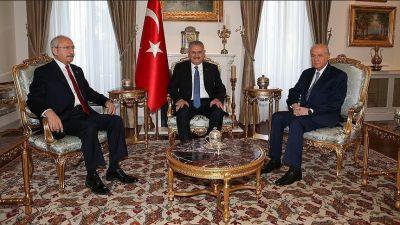 Премьер Йылдырым на встрече с главными оппозиционнерами Турции