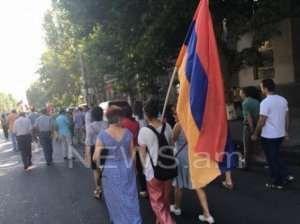 Yerevanda Sarkisyan əleyhinə yenə mitinq keçirildi
