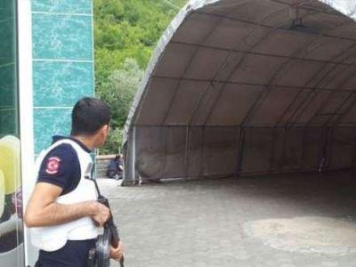 Trabzonda gərginlik: 1 polis yaralandı