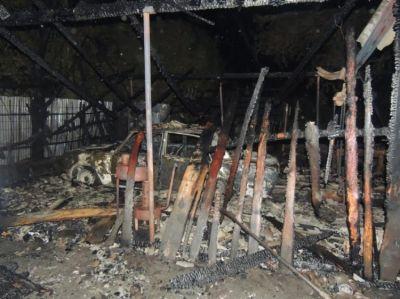 Göyçayda avtomobil təmiri sexi yandı