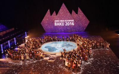 Bakı Şahmat Olimpiadasının təntənəli açılış mərasimi keçirilib FOTOLAR