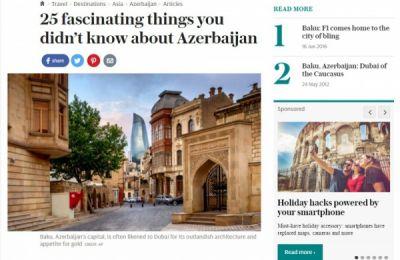 Azərbaycan turizmi Britaniya mətbuatında