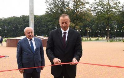 Ильхам Алиев в Масаллы
