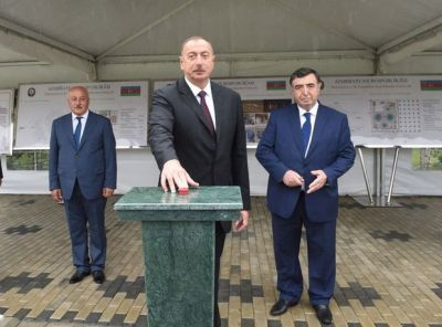 Президент Азербайджана совершил визит в Билясуварский район