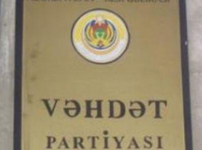 Vəhdət Partiyası referendumla bağlı qərar verdi