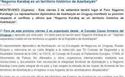 Erməni icmasının təxribatına cavab verilib