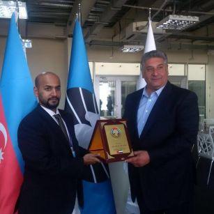 Azad Rəhimov BƏƏ Şahmat Federasiyasının rəsmisi ilə görüşüb FOTO