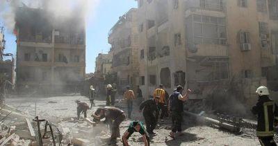 Rusiya təyyarələri Hələbi bombaladı: 28 ölü, 57 yaralı