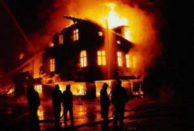 Ağdaş rayonunda ev yanıb