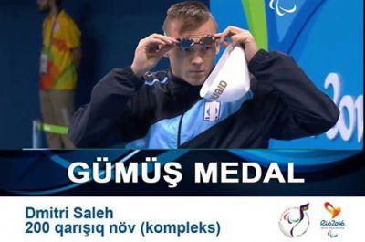 """Üzgüçümüz """"Rio-2016""""da gümüş medal qazanıb"""